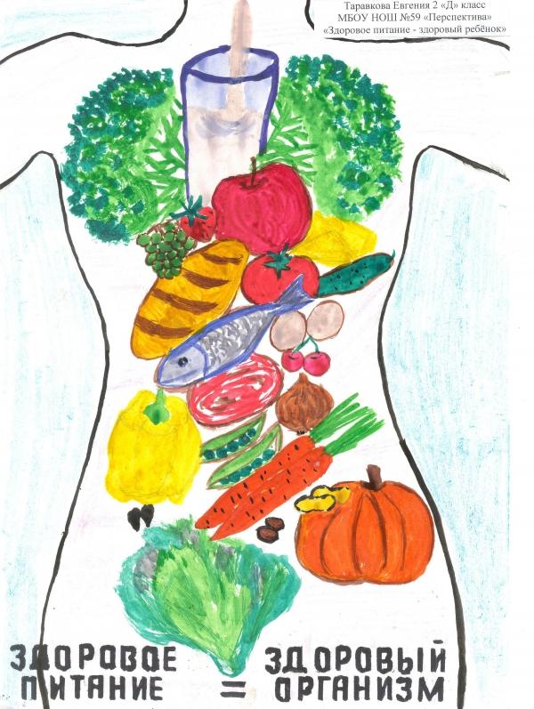 нарисовать здоровое питание
